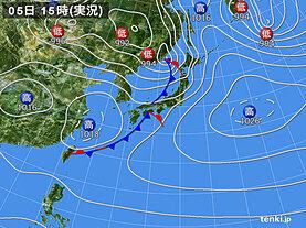 実況天気図(2021年05月05日)