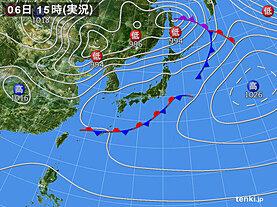 実況天気図(2021年05月06日)