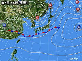 実況天気図(2021年05月07日)