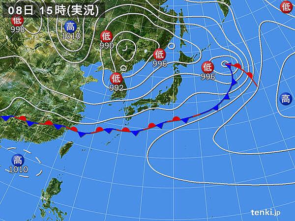 実況天気図(2021年05月08日)