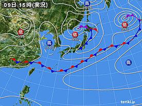 実況天気図(2021年05月09日)