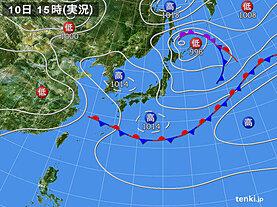 実況天気図(2021年05月10日)