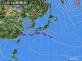 実況天気図(2021年05月12日)