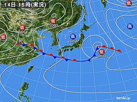 実況天気図(2021年05月14日)