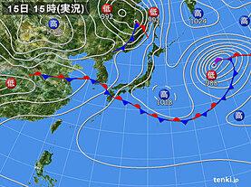 実況天気図(2021年05月15日)