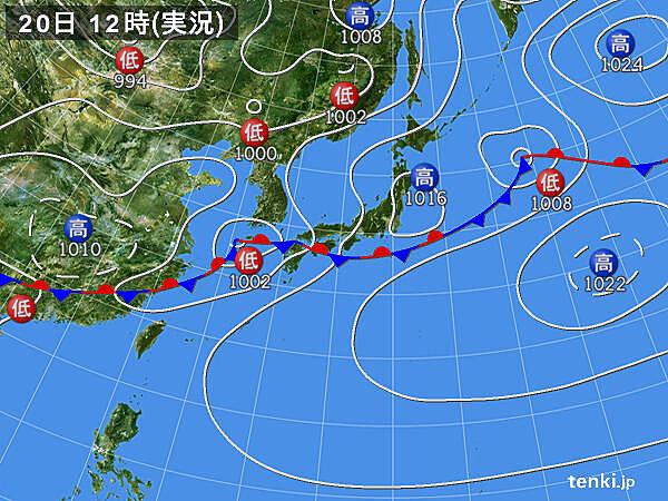 実況天気図(2021年05月20日)