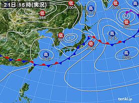 実況天気図(2021年05月21日)