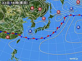 実況天気図(2021年05月23日)