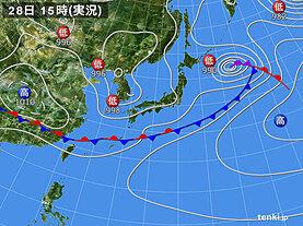 実況天気図(2021年05月28日)