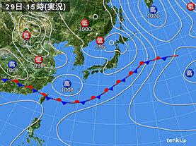 実況天気図(2021年05月29日)