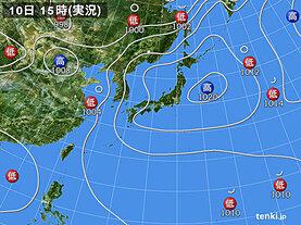 実況天気図(2021年06月10日)