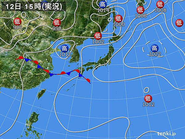 実況天気図(2021年06月12日)
