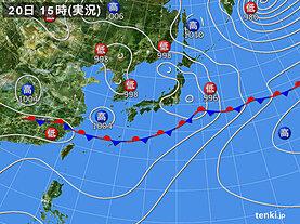 実況天気図(2021年06月20日)