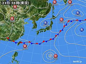 実況天気図(2021年06月24日)