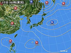実況天気図(2021年07月17日)