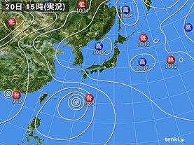 実況天気図(2021年07月20日)