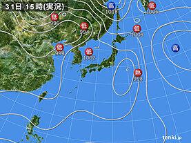 実況天気図(2021年07月31日)