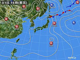 実況天気図(2021年08月01日)