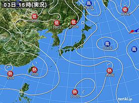 実況天気図(2021年08月03日)