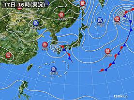 実況天気図(2021年09月17日)