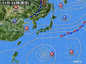 実況天気図(2021年09月27日)