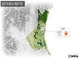 2015年01月01日の茨城県の実況天気