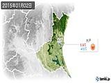 2015年01月02日の茨城県の実況天気