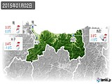 2015年01月02日の鳥取県の実況天気