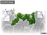 2015年01月06日の鳥取県の実況天気