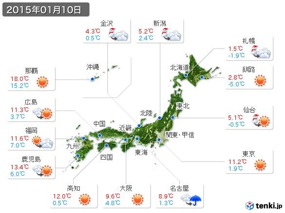(2015年01月10日の天気