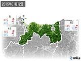 2015年01月12日の鳥取県の実況天気