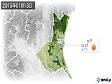 2015年01月13日の茨城県の実況天気