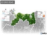 2015年01月24日の鳥取県の実況天気