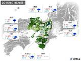 2015年01月26日の近畿地方の実況天気