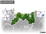 2015年01月27日の鳥取県の実況天気