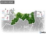 2015年01月28日の鳥取県の実況天気