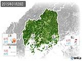 2015年01月28日の広島県の実況天気