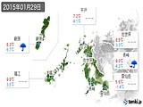 2015年01月29日の長崎県の実況天気