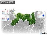 2015年01月30日の鳥取県の実況天気