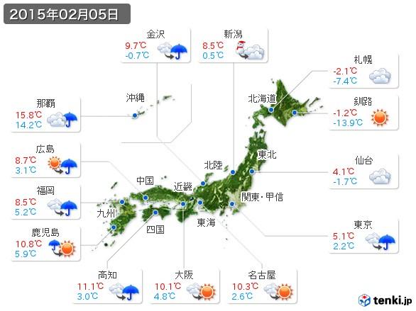 (2015年02月05日の天気