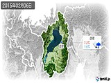 2015年02月06日の滋賀県の実況天気