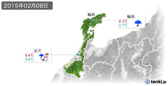 石川県(2015年02月08日の天気