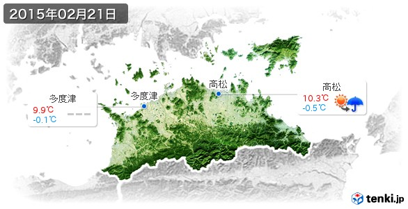香川県(2015年02月21日の天気