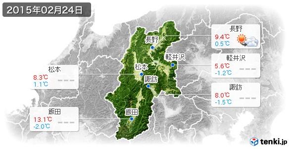 長野県(2015年02月24日の天気