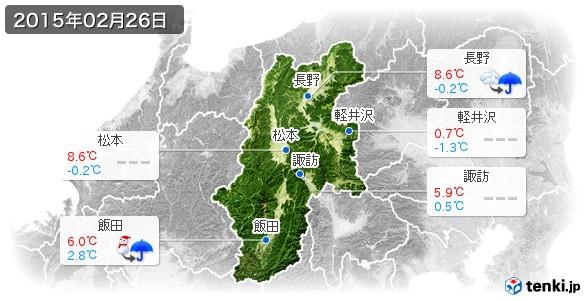 長野県(2015年02月26日の天気