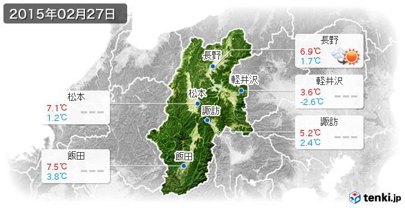 長野県(2015年02月27日の天気