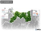 2015年06月01日の鳥取県の実況天気