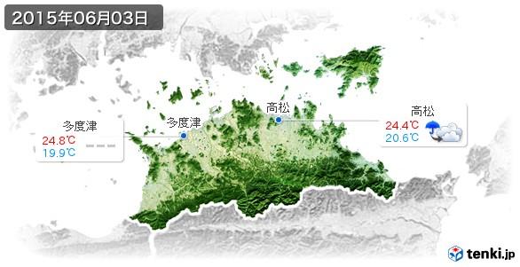 香川県(2015年06月03日の天気