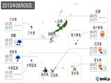 2015年06月05日の沖縄県の実況天気