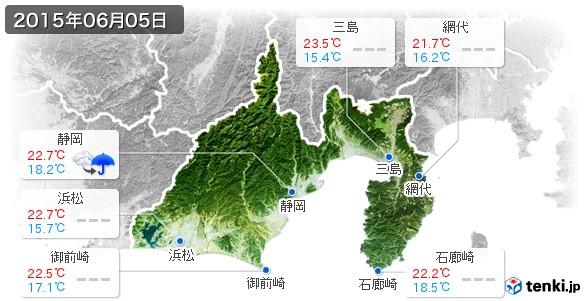 静岡県(2015年06月05日の天気